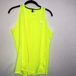 Under Armour Bright Yellow Mesh Tank Size M